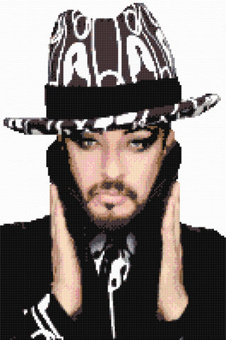 Boy George Counted Cross Stitch Kit  Celebrity/Singer