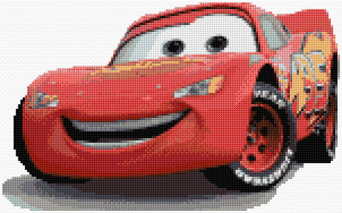 Cars-Lightning McQueen Counted Cross Stitch Kit