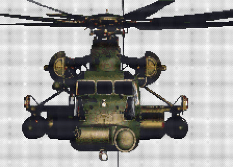 CH53 Military Helicopter Counted Cross Stitch Kit