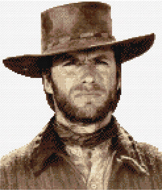 Clint Eastwood Counted Cross Stitch Kit