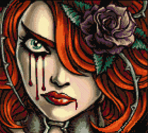Cry Blood Counted Cross Stitch Kit