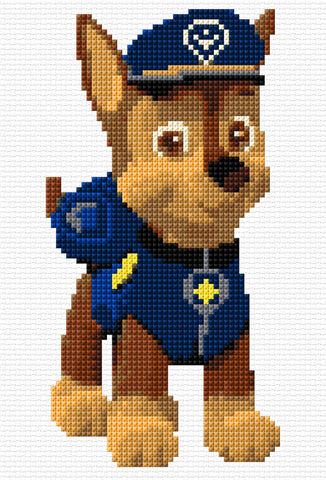 'Chase' -Paw Patrol Character Counted Cross Stitch Kit