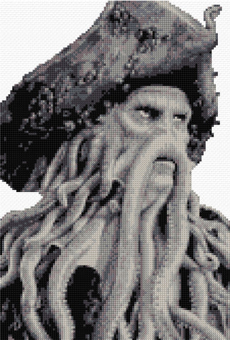 Davey Jones from Pirates of the Caribbean Counted Cross Stitch Kit