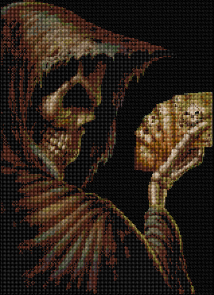 Reaper-Dead Mans Hand Counted Cross Stitch Kit