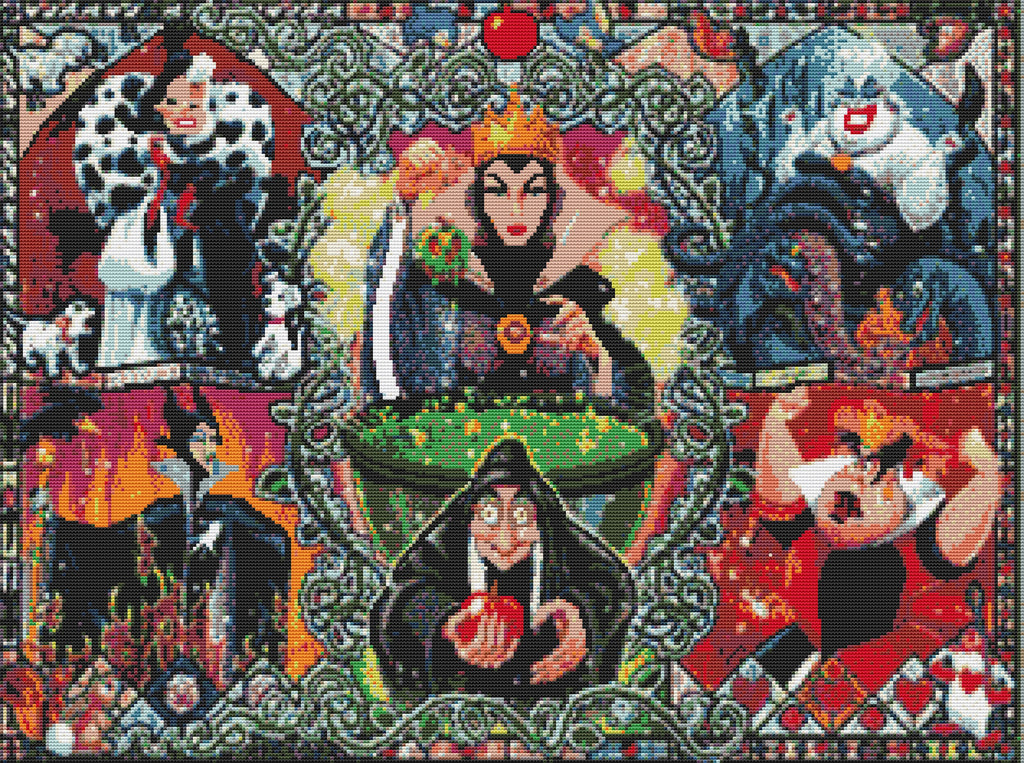 Disneys Villains Full Counted Cross Stitch Kit  TV/Film Characters
