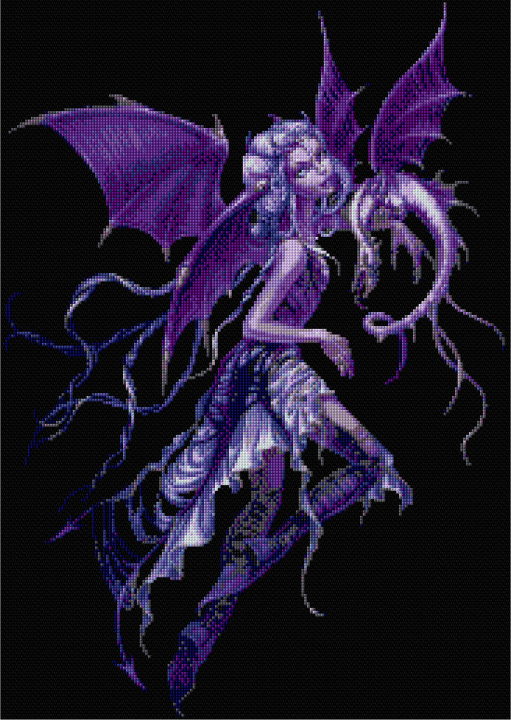 Dragon Fairy Counted Cross Stitch Kit Fairies/Fantasy