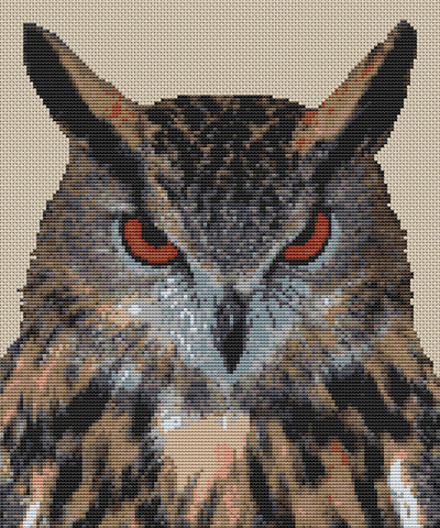 Eagle Owl Counted Cross Stitch Kit