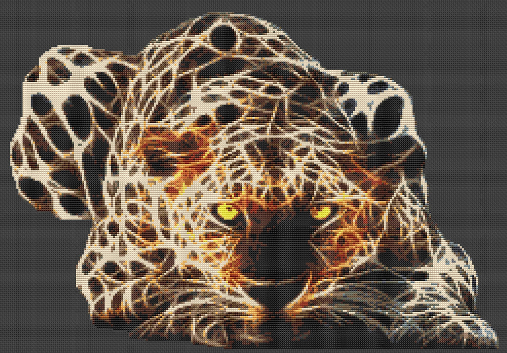 Electric Leopard Counted Cross Stitch Kit