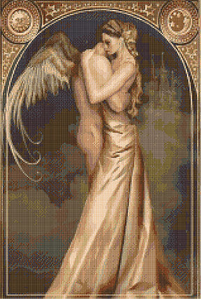 Eros Embrace Counted Cross Stitch Kit
