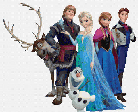 Elsa Anna & the Boys Counted Cross Stitch Kit