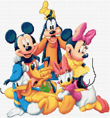 Mickey & Friends Counted Cross Stitch Kit