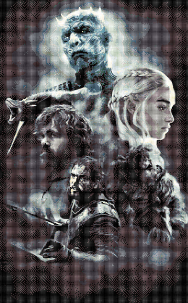 Game of Thrones characters, Counted Cross Stitch Kit Large piece!