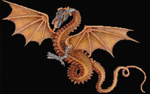 Golden Dragon Counted Cross Stitch Kit