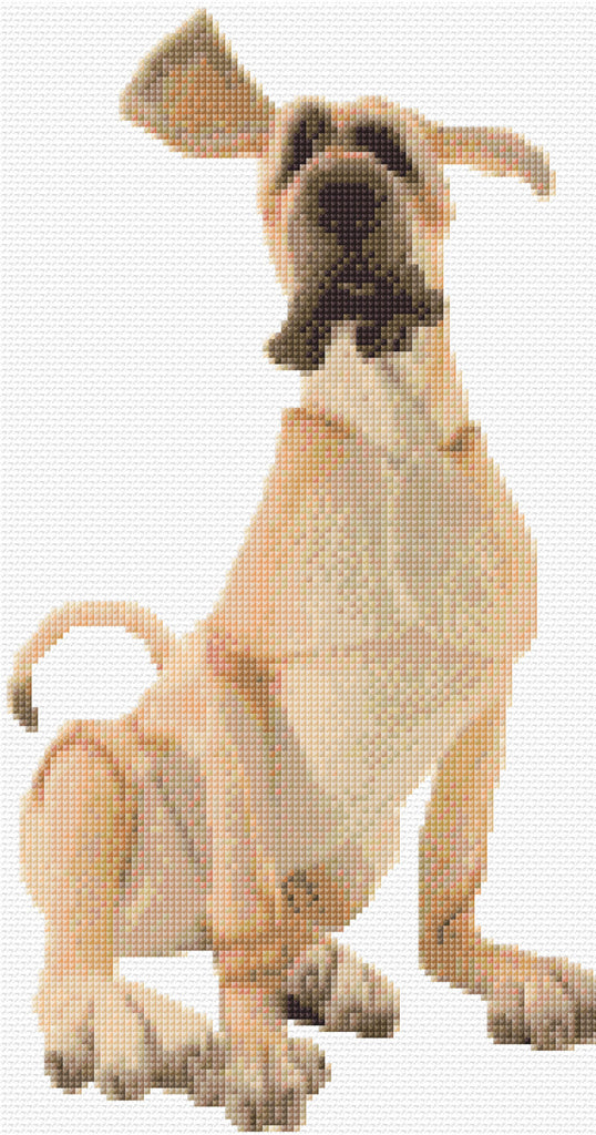 Great Dane Caricature Counted Cross Stitch Kit