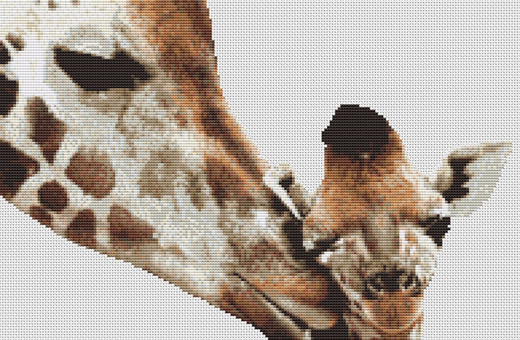 Giraffe & Baby Counted Cross Stitch Kit, Wildlife/Animals