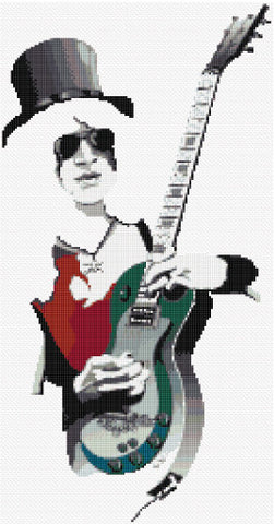 Guitar Legend Counted Cross Stitch Kit