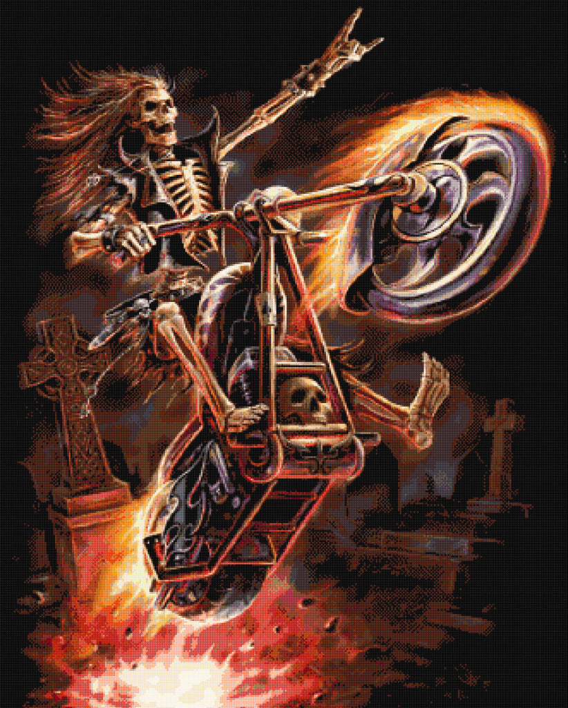 Hells Rider  Counted Cross Stitch Kit