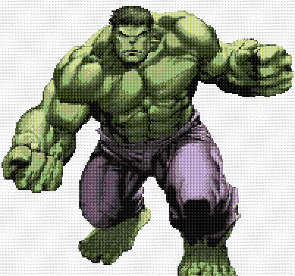 'Hulk' Counted Cross Stitch Kit Superhero/film character