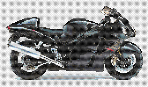 Suzuki GSXR 1300 Hayabusa Counted Cross Stitch Kit