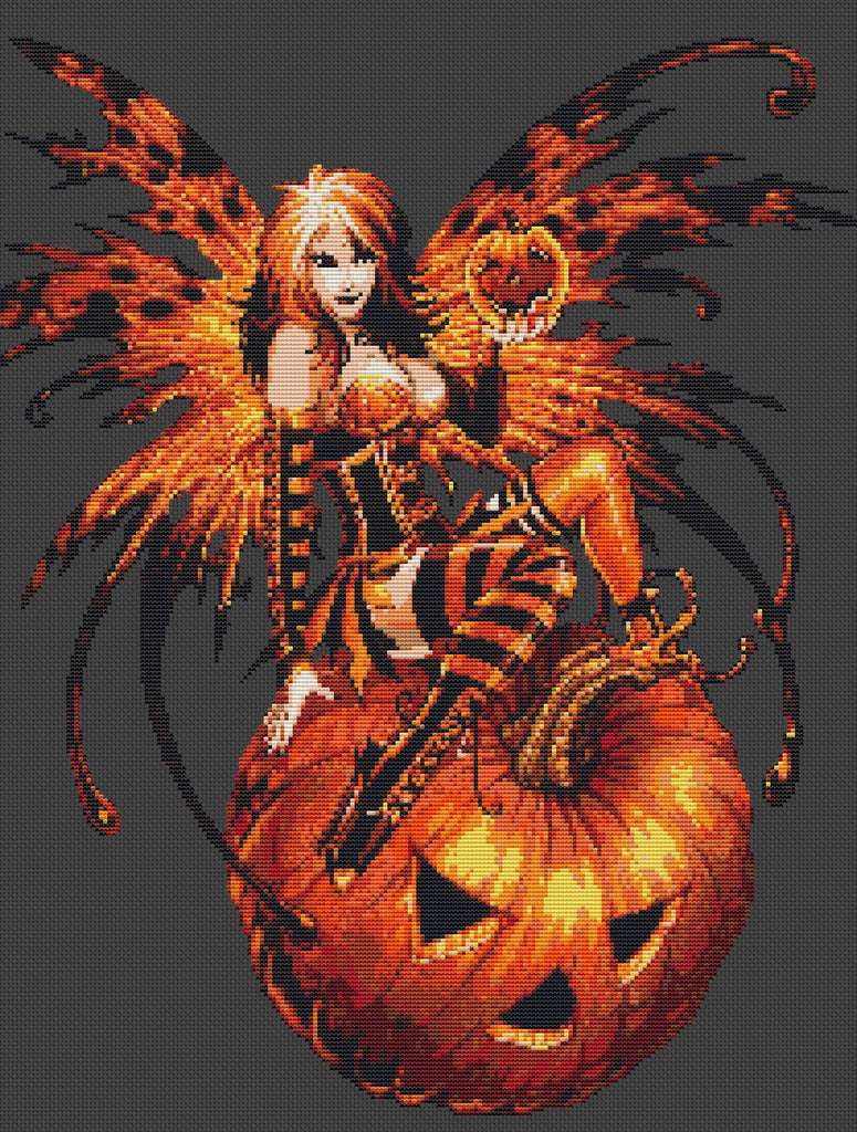 Halloween Fairy Counted Cross Stitch Kit