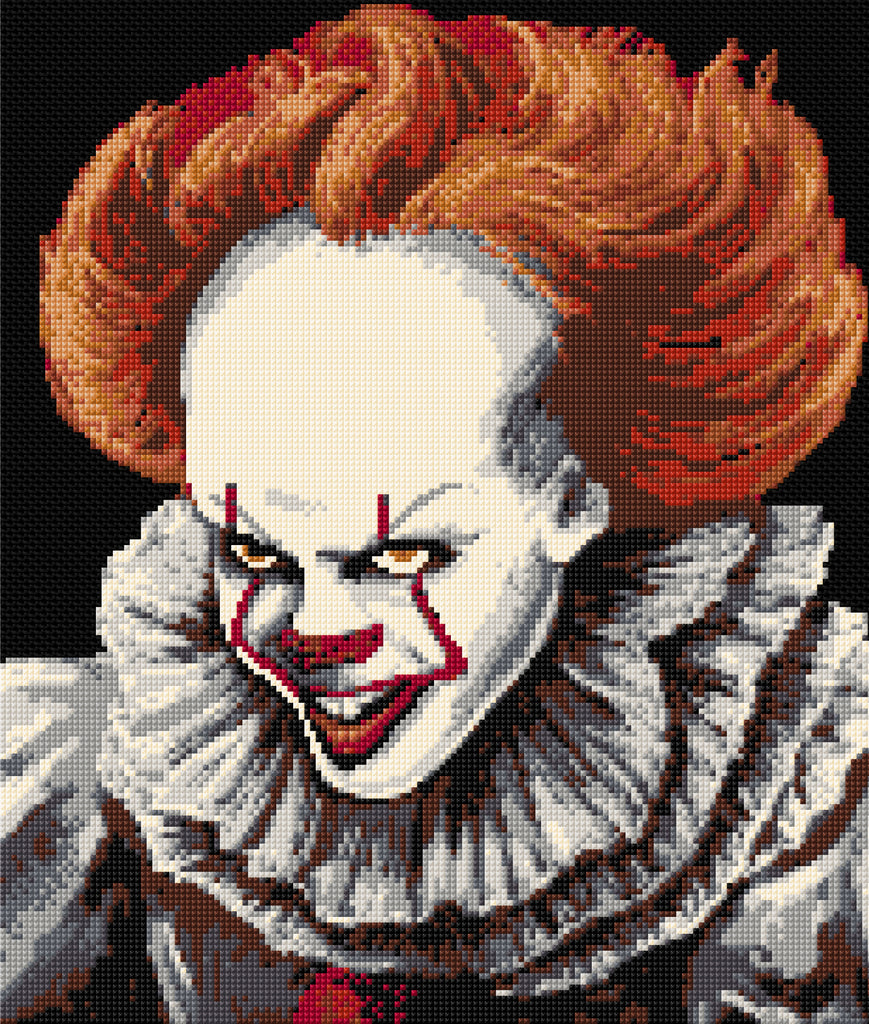 'IT'- Pennywise The Clown Counted Cross Stitch Kit,
