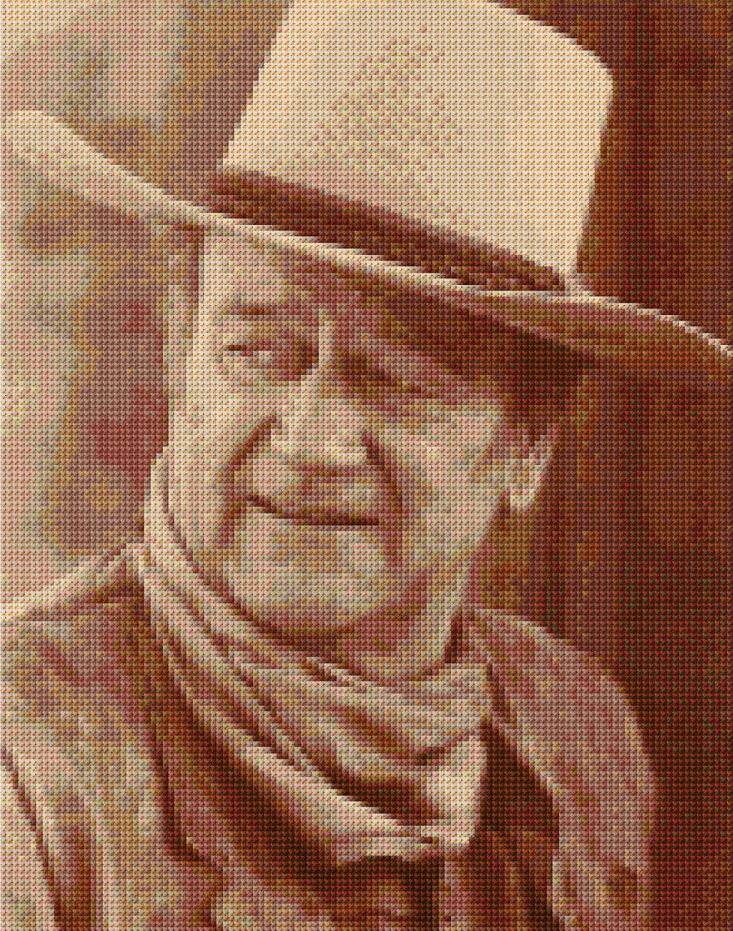 John Wayne  Counted Cross Stitch Kit