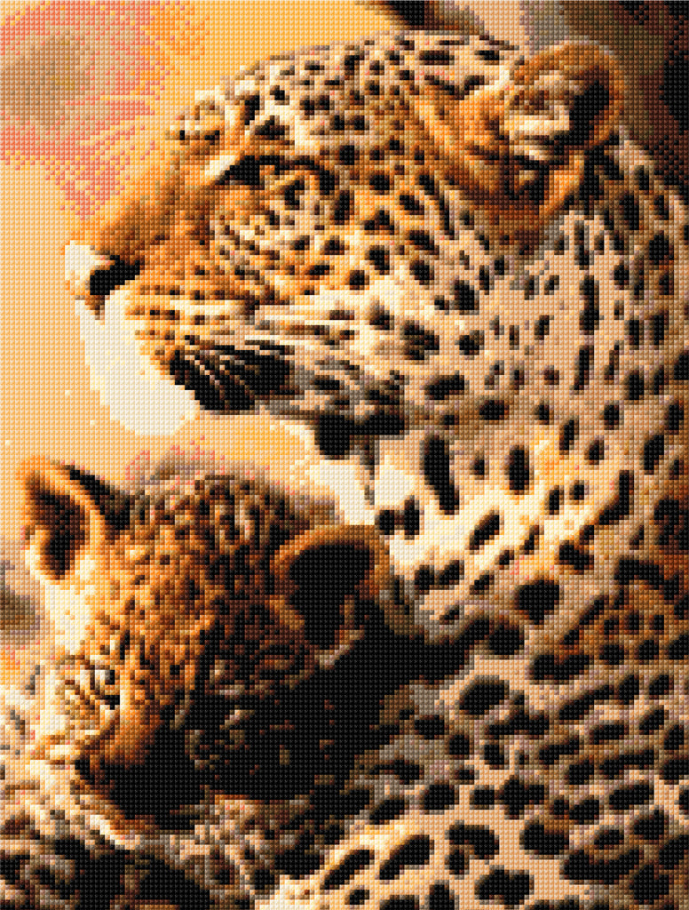 Leopard & Cub  Counted Cross Stitch Kit