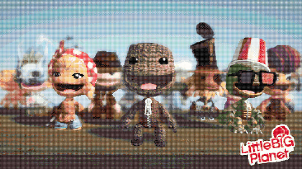 Little Big Planet  Counted Cross Stitch Kit