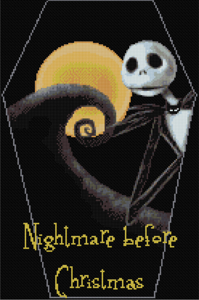 Nightmare Before Christmas Counted Cross Stitch Kit – Designs In ...