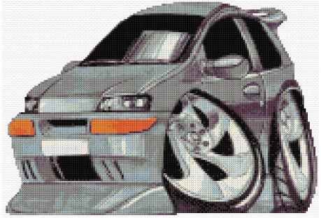 Black Punto Counted Cross Stitch Kit