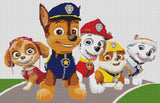 Paw Patrol characters Counted Cross Stitch Kit