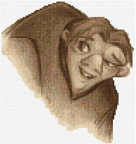 Beauty And The Beast-Hunchback In Sepia Counted Cross Stitch Kit