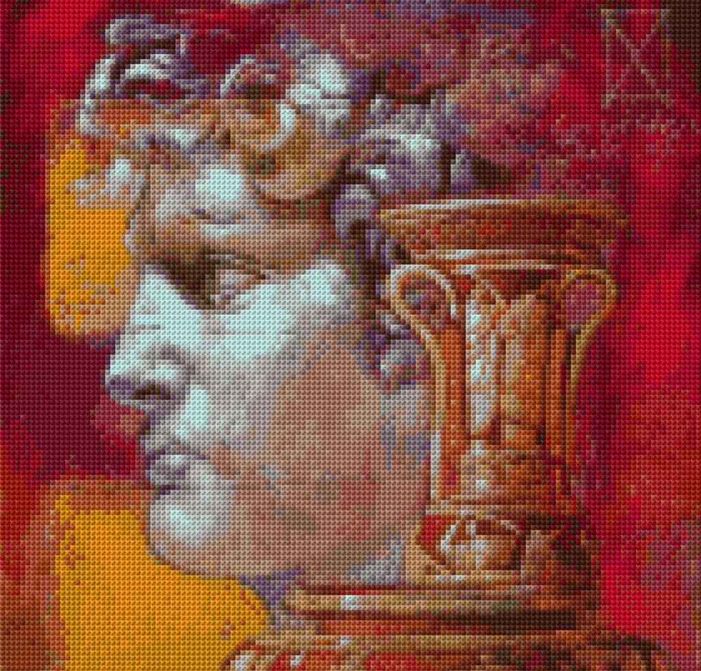 Roman Bust Counted Cross Stitch Kit
