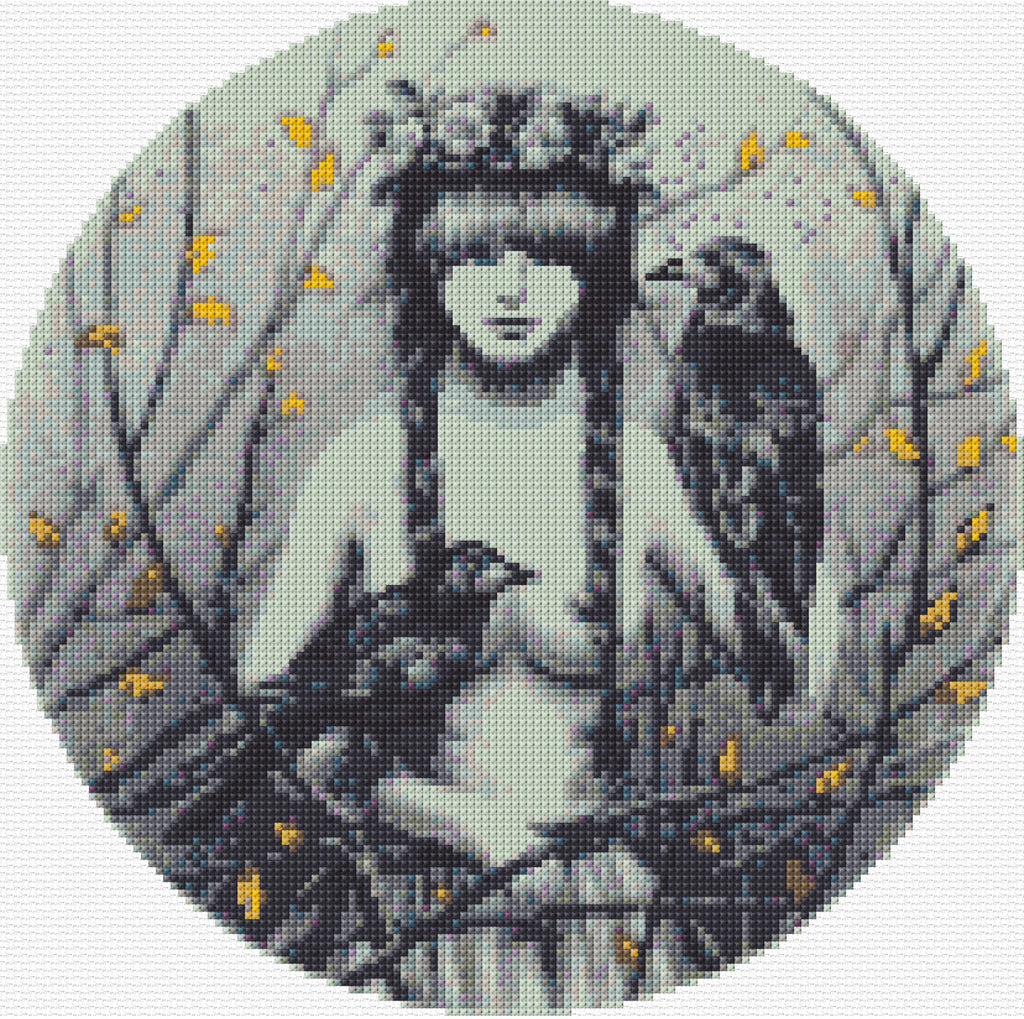 Rook Nymph Counted Cross Stitch Kit