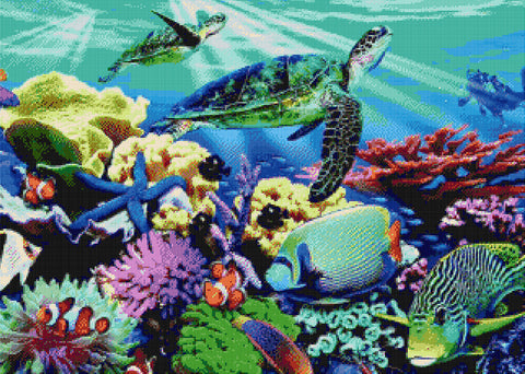 Sea World Counted Cross Stitch Kit