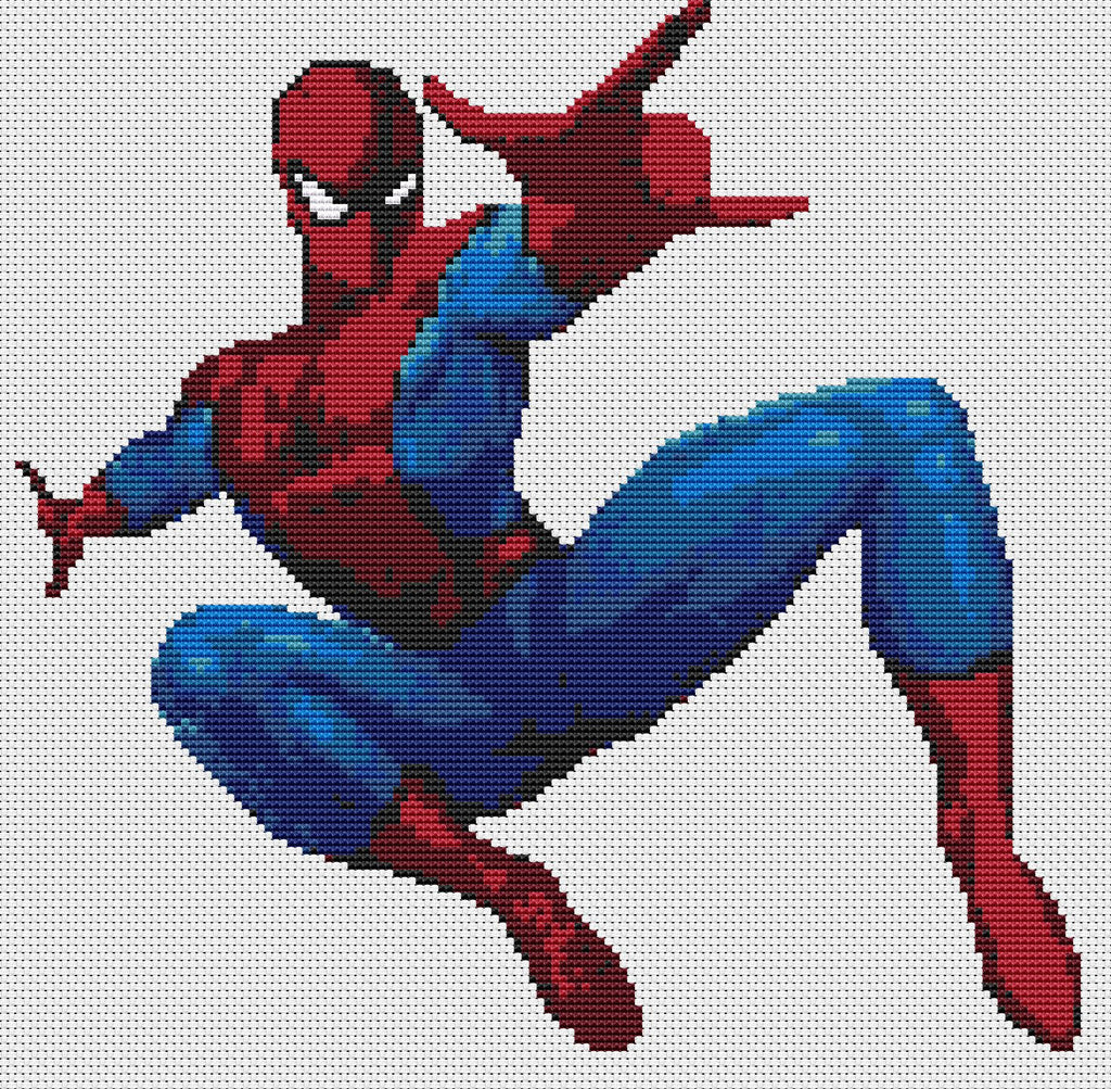 Spiderman Counted Cross Stitch Kit  TV/Films