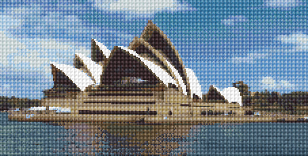 Sydney Opera House Full Counted Cross Stitch Kit, Places of interest