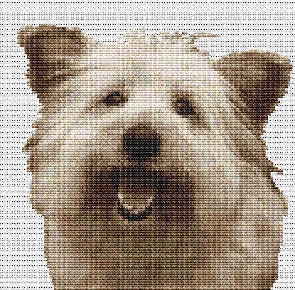 Terrier Dog-Mixed breed Counted Cross Stitch Kit