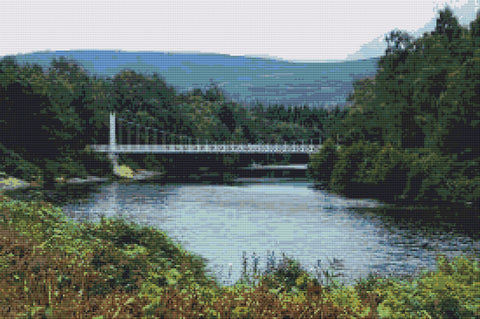 The Bridge at Cambus Deeside Counted Cross Stitch Kit
