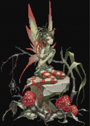 Toadstool Fairy Counted Cross Stitch Kit