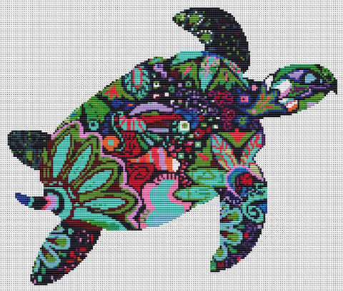 Turtle Counted Cross Stitch Kit  Wildlife, Animals