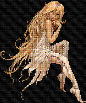 White Fairy Counted Cross Stitch Kit