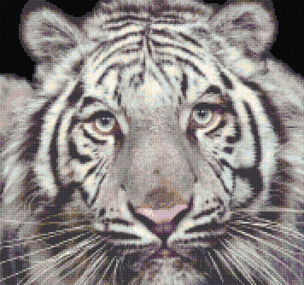 White Tiger Counted Cross Stitch Kit