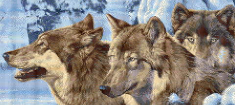 Canadian Wolves Counted Cross Stitch Kit Animals/Wildlife