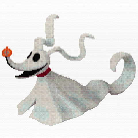'Zero' Counted Cross Stitch Kit-Nightmare Before Christmas