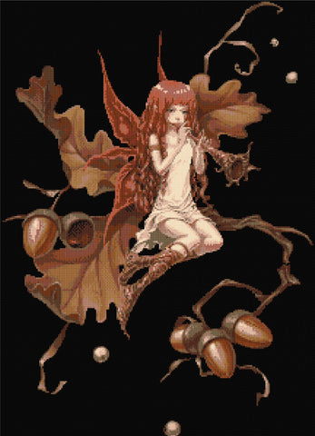 Acorn Fairy Counted Cross Stitch Kit Fairy/Fantasy