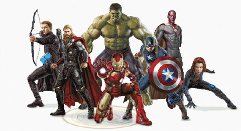 Avenger Characters Counted Cross Stitch Kit