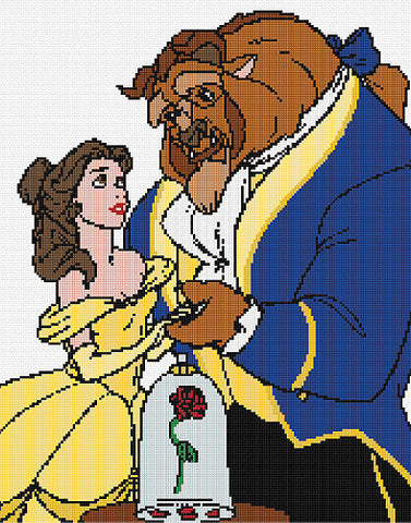 Beauty And The Beast Counted Cross Stitch Kit