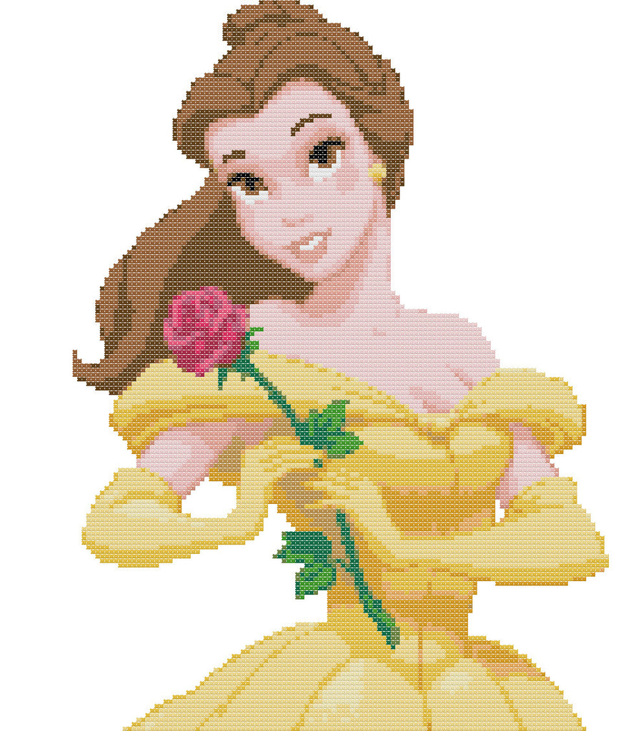 Beauty And The Beast-Belle Counted Cross Stitch Kit