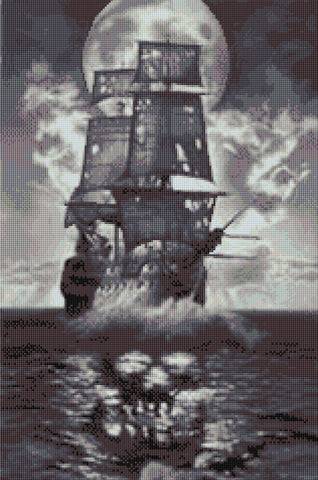 Black Pearl Counted Cross Stitch Kit